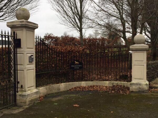 Gate piers and coping for railings