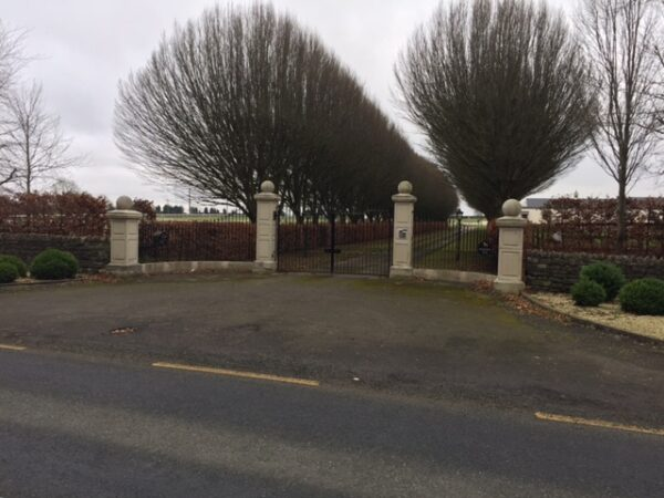 Gate piers for a stud in Kildare