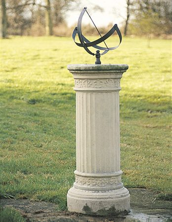 Fluted sundial base