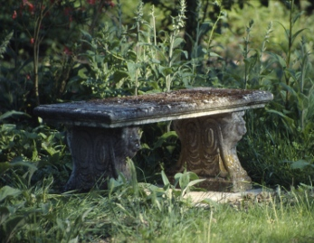Stone Garden Benches and Tables