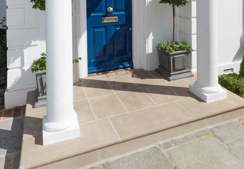 Contemporary Cast Stone Step
