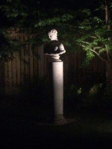 Statue of Antonia at night